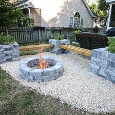 43 Extraordinary Diy Backyard Fire Pit Decoration Ideas That You Need To Have - When it comes to backyard fireplaces people often ask if they should build or buy. The answer will depend on your personal circumstances. Diy Fire Pit, Fire Pit Backyard, Fire Pit Bench, Garden Fire Pit, Fire Pit Seating, Fire Pit Area, Garden Bed, Fire Pit Landscaping, Landscaping Ideas