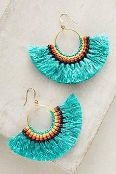 Josephina Tassel Hoop Earrings