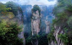 zhangjiajie national park wallpaper for desktop background (Colyer London 1920x1200)