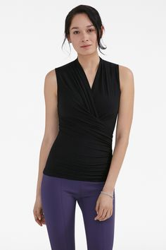 The perfect v-neck shell for Manic Mondays and Casual Fridays alike.