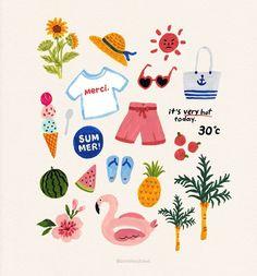 Ideas drawing creative tekenen for Conversational Prints, Guache, Planner, Cute Illustration, Cute Stickers, Graphic, Sticker Design, Cute Drawings, Cute Art