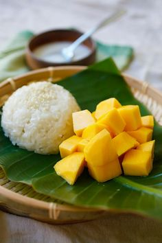 Thai sticky rice w/ mango for dessert