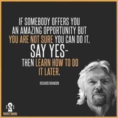 Unless its testing WingSuits.  Then you should probably say No  JK.  Go Get at it today! : @secrets2success via @milliondollar_quote