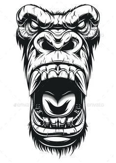 Graffiti Tattoo, Graffiti Drawing, Graffiti Art, Really Cool Drawings, Cool Art Drawings, Animal Drawings, Gorilla Tattoo, Tattoo Design Drawings, Tattoo Designs Men