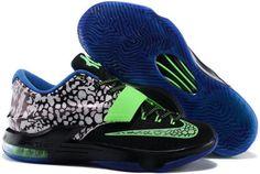 on sale 3d6f2 afc14 Nike KD 7 Easter Lemon Black Green Blue Sneakers Nike Kd Shoes, Cheap  Jordan Shoes