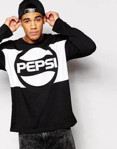 ASOS Oversized Long Sleeve T-Shirt With Pepsi Print