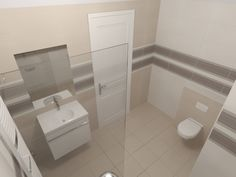 3D Fürdőszoba látványterv Alcove, Toilet, Bathtub, Bathroom, Standing Bath, Washroom, Flush Toilet, Bathtubs, Bath Tube