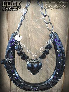 Lucky Horseshoe Black HeartHandmade one of a kind by LuckAdorned