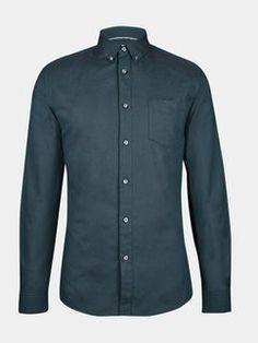 Teal Long Sleeve Oxford Shirt
