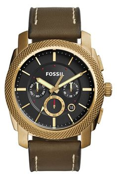 Fossil+'Machine'+Chronograph+Textured+Bezel+Watch,+45mm+available+at+#Nordstrom