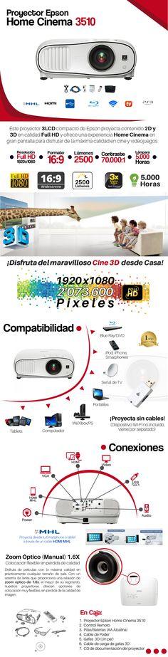proyector video beam epson hc 3510