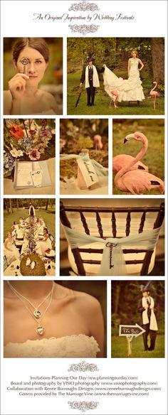 alice in wonderland wedding theme....    At least my bridal shower, please!!!