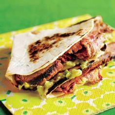Sliced Steak Soft Taco Sliders with Guaca-Salsa (Rachel Ray)
