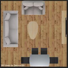 15 formas de distribuir los muebles en un salón cuadrado Dining Room, House Design, Home Decor, Ideal House, Small Living Rooms, Houses, Living Room, Windows, Decoration Home