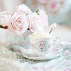 Most popular tags for this image include: cup, flowers, pastel, rose and shabby chic Foto Pastel, Pastel Pink, Pastel Colors, Image Pastel, Couleur Rose Pastel, Japanese Candy, Pink Princess, Princess Drinks, Princess Palace