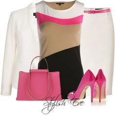 Stylish Eve 2013 Outfits: Formal Outfits in Bright Colors Love the pop of pink