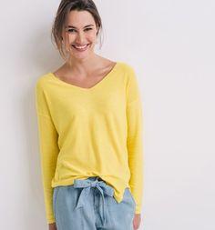 Dámský svetr žlutá - Promod
