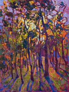 Colorful Painting - Crystal Pines by Erin Hanson