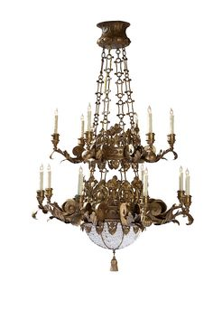 Santini Two-Tier Chandelier by @ebanistacollect from Collection Ten by Ebanista. Discover more at www.ebanista.com