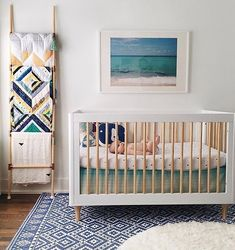 "Talk about a sunny weather inspired nursery! Loving the warm yet ""cool"" vibe from this gorgeous space. Via @babyletto, by @sara_garza"