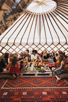 Moroccan wedding party in a yurt!