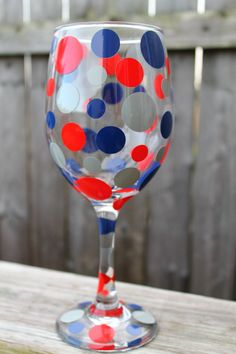 New England Patriots Themed Personalized Wine Glasses by ahindle78, $10.00