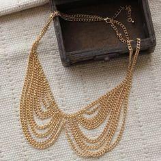 New-17-Chain-Necklace-Gift-Unisex-Jewelry-Fashion-Gold-Tone-Collar-Bib-Choker