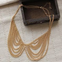 New-17-Chain-Necklace-Gift-Unisex-Jewelry-Fashion-Gold-Tone-Collar-Bib-Choker
