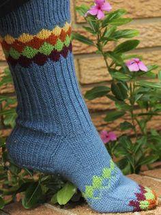 Interlock socks. Lots of room for colour creativity here (and using leftover sock yarn!)