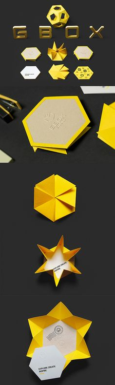 Inspired Origami Style Interactive Business Card For A Design Studio