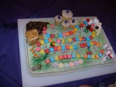 I made this Candyland gameboard cake.