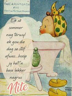Goeie Nag, Sleep Tight, Afrikaans, Good Night, Winnie The Pooh, Verses, Words, Disney Characters, Quotes
