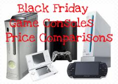 Black Friday Game Consoles Price Comparisons