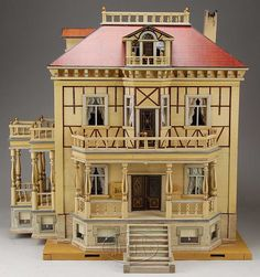 Large German doll house with elevator.