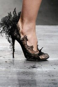 Black Lace Shoes to go with Black Lace Mask