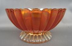 PILLAR FLUTE - IMPERIAL Marigold Carnival Glass Mayonnaise Bowl Carnival Glass, Marigold, Mayonnaise, Flute, Punch Bowls, Iridescent, Decorative Bowls, Ebay, Vintage