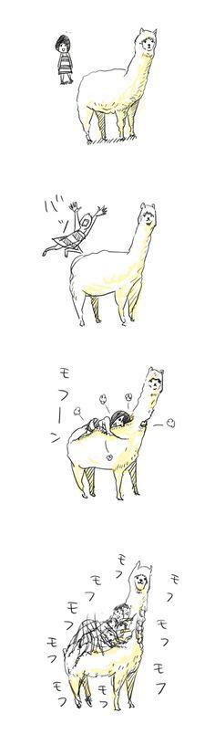 one day ill hug a llama