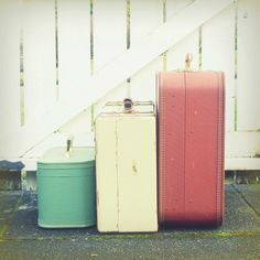 Let's go Travel! I love this pastel hued set of suitcases!