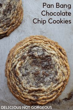 Pan Banging Chocolate Chip Cookies - Delicious Not Gorgeous Chocolate Chip Cookies, Cookie Recipes, Dessert Recipes, Yummy Recipes, Yummy Food, Homemade Chocolate, Chocolate Chocolate, Clean Eating Snacks, Sweet Tooth