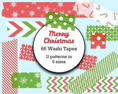 Christmas Digital Washi Tape - Instant Download - Commercial Use - PNG - Christmas Washi Tape Digital Paper - Washi Tape Clip Art Scrapbook on Etsy, 909,09Ft