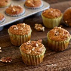 Banana-Walnut Breakfast Muffins Recipe (Paleo, gluten-free, grain-free, dairy-free) by #LivingHealthyWithChocolate