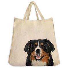 Bernese Mountain Dog Tote Bag - Color Design
