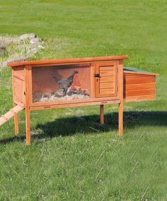 Look what I found on #zulily! Glazed Pine One-Story Chicken Coop with Exterior Ramp #zulilyfinds