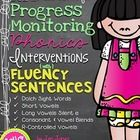125 CBM's for Progress Monitoring Phonics Interventions. Appropriate for both Tier 2 struggling decoders and/or using in your classroom literacy stations for Tier 1 core fluency growth.