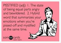 Pisstified - this happens all the time when my soon to be ex opens his mouth and says something hateful