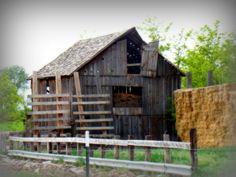 Hay Barn in old barn and grandpa's and grandma's