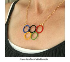 Olympic rings necklace from Remarkably Domestic