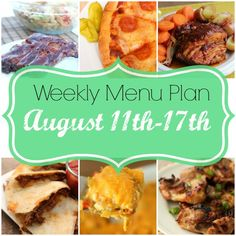 Weekly Menu Plan - every week, we write up our menu to hopefully make your menu planning a little easier!