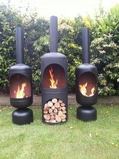 #Repurposed #Recycled hot #waterheaters. Source: http://www.minimalisti.com/home-garden-design/10/chiminea-patio-furniture-ideas.html