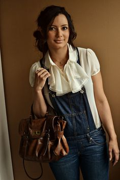 Cute way to style overalls.